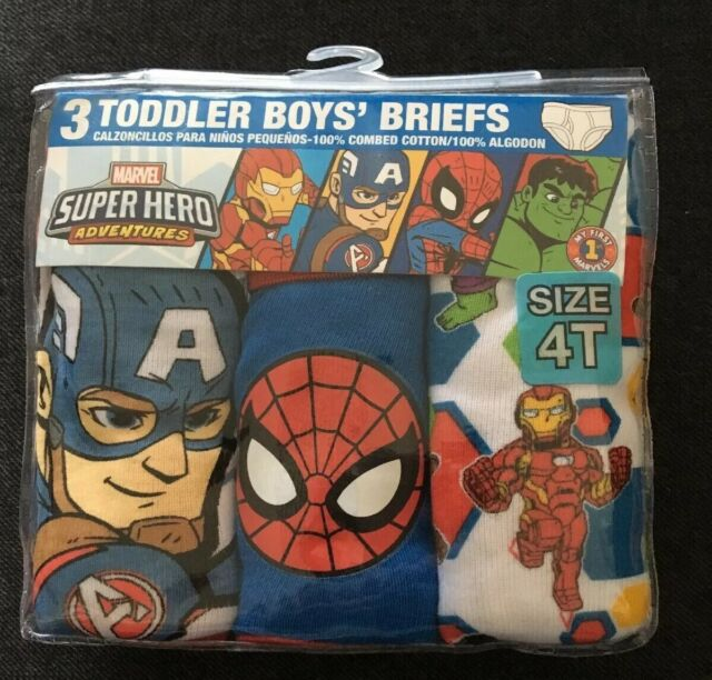 Marvel Super Hero Adventures 7 Cotton Briefs Toddler Boys Size 2T 3T Multi-Color