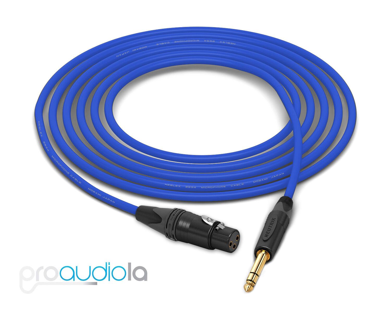 Mogami Quad 2534 Kabel Neutrik Gold XLR-F TRS Blau 60 Feet 60 Ft. 60'