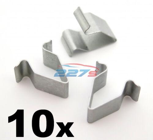10x audi coffre /& tailagte doublure bordure métallique panneau clips-interior trim clips