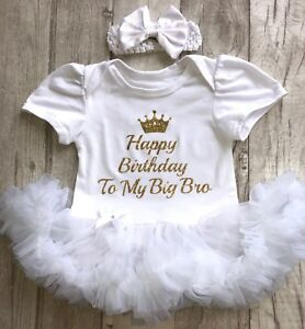 Humoristique Birthday Party Tutu Ange, Paillettes D'or Couronne Joyeux Anniversaire à Mon Grand Frère Sis-afficher Le Titre D'origine