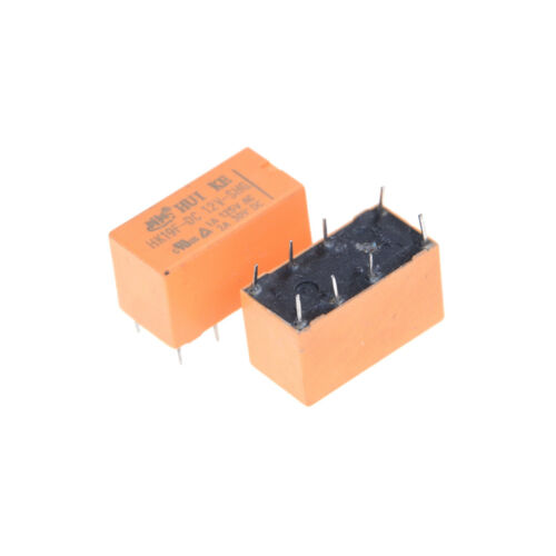 10Pz HK19F-DC12V-SHG DC 12V bobina dpdt pin pc realplay relè di potenz MR