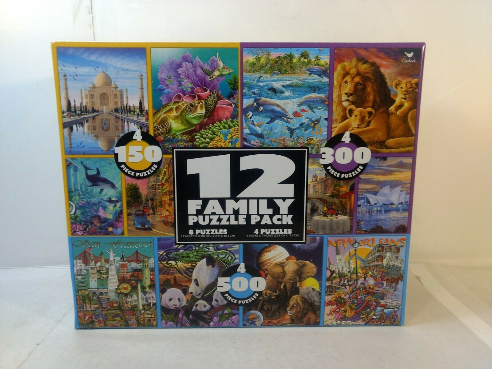 12 Family Puzzle Pack Cardinal Industries