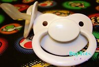 Adult Baby Large Silicone Pacifier (nuk 6 ?)white Big Tots