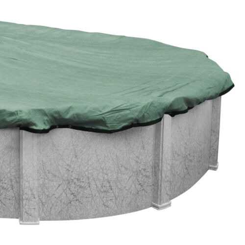 Green 12/' x 24/' Oval Above Ground Swimming Pool Mesh Winter Cover 15 Year