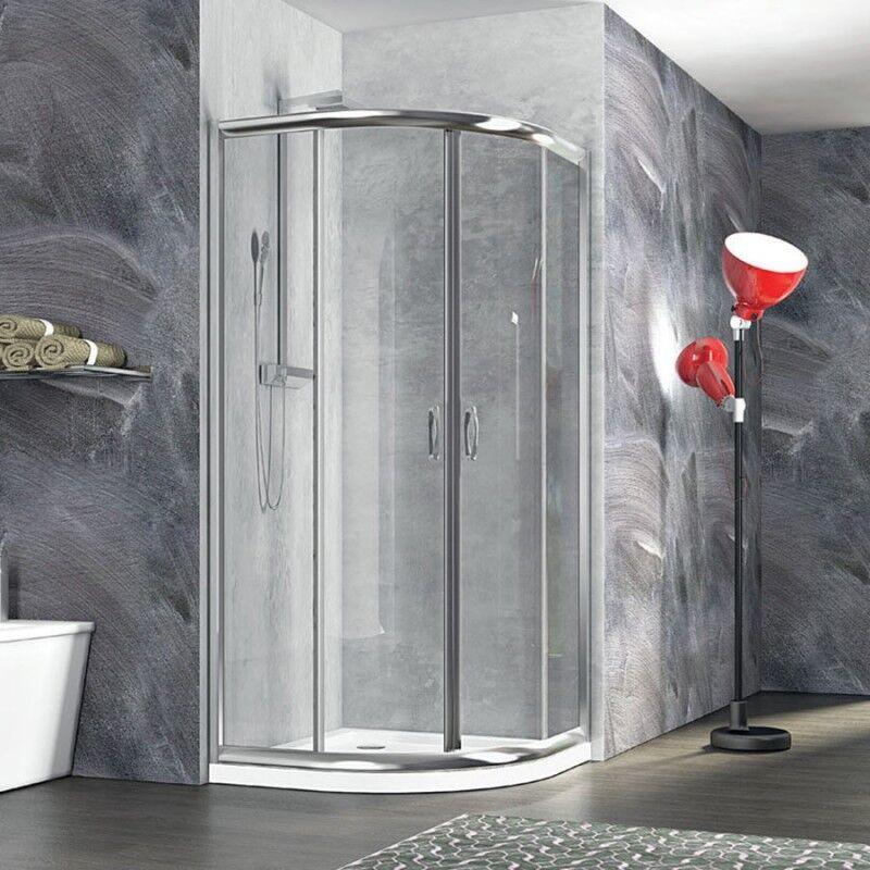 Box doccia semicircolare Nolan 90x90 cristallo trasparente 6 mm altezza 185 cm