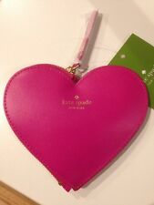 Kate Spade PiNK HEART Flirt w/ Handsome Stranger Coin Purse New 'change of heart