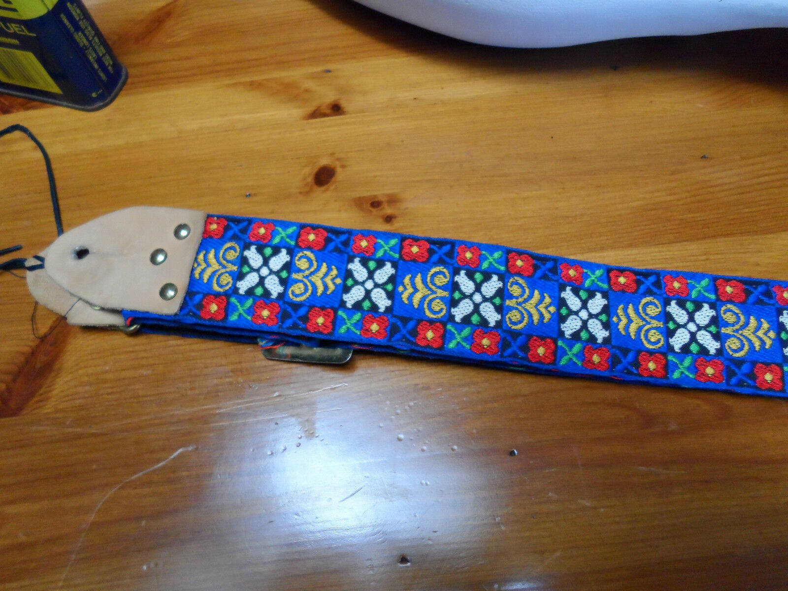 Vintage  ACE guitar strap Hippie style used by Hendrix