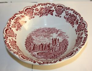 Details about Enoch Wedgwood Tunstall Royal Homes of Britain Red Serving  Dish Dm 9 5/8in