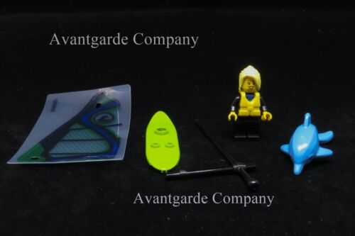 LEGO 60153 WINDSURFER LOOSE MINIFIGURE WITH WINDSURF BOARD DOLPHIN NEW 100/% REAL