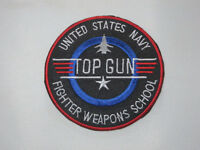 Top Gun United States Navy Fighter Weapons School 3 Sewn On/iron On Patch.