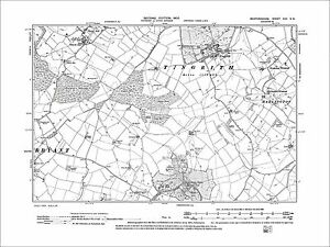 OLD ORDNANCE SURVEY MAP SOUTH BEDFORDSHIRE 1893 LUTON LEIGHTON BUZZARD WOBURN