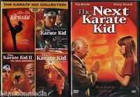 Karate Kid Dvd 1 2 3 4 & Remake Lot 5 Movie Set Complete Collection Brand