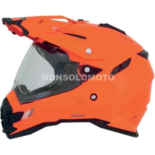 Casco AFX Moto Cross Quad FX-41DS Solid Color Arancione Enduro