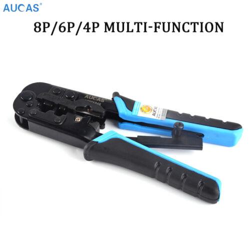 Aucas 4P//6P//8P Multifunction RJ45 Crimping Tool Crimper Network LAN Crimps Ends