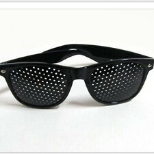 Fashion Black Lens Pinhole Glasses Sunglasses Improve vision Myopia Hyperopia