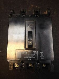 Westinghouse EB3100 100 Amp 3 Pole 240 Volt Circuit Breaker New 2 Available