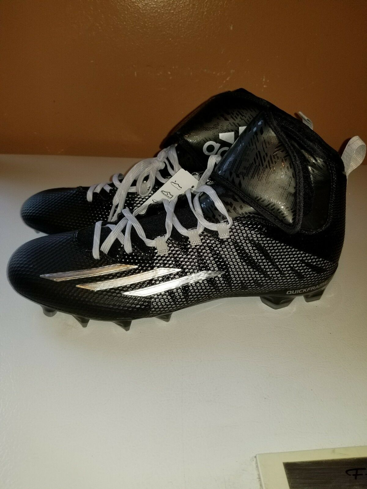 Adidas Dual Threat Mid Techfit Athletic Sport Football Cleats S84836 Men's Sz 14 The latest discount shoes for men and women