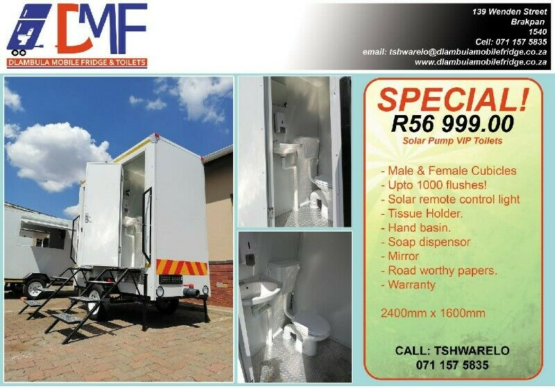 Mobile Toilets For Sale. Double Units Available.