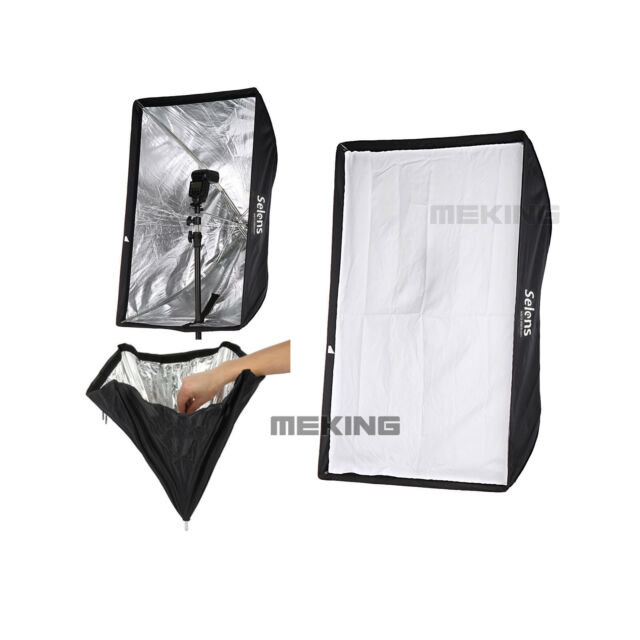 High Quality Selens S6090 Lighting umbrella softbox For Speedlite/Flash 60*90cm