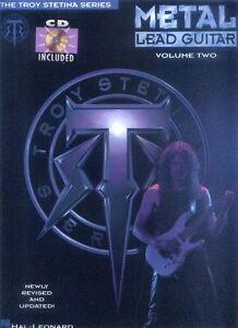 Troy-Stetina-Metal-Lead-Guitar-Volume-2-Schule-fuer-Gitarre-ohne-Noten-mit-CD