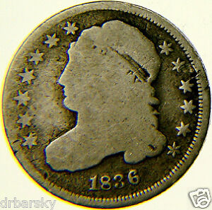 1836-BUST-DIME-SILVER-COIN-NICE