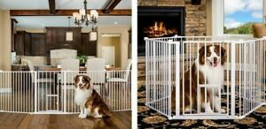 Details About Carlson Pet Pen Dog Gate With Door 28 Tall 144 Wide Expanse 2600hw 2 In 1