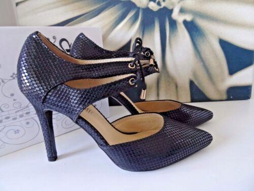 À Bureau Uk Mock 5 Croc À Lacets Taille Noires Pointues Chaussures Talons q8XBxP8