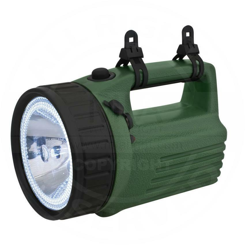 Mia clear Akku-Handscheinwerfer, 1x  Halogen + 12 x led, green plastic  wholesale price and reliable quality