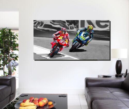 Canvas Wall Art Marquez Vs Rossi