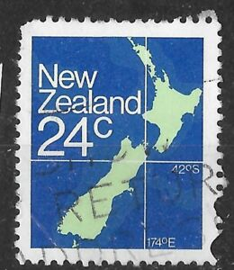 Show Map Of New Zealand.Details About New Zealand 24c Stamp Shows Map See Scan