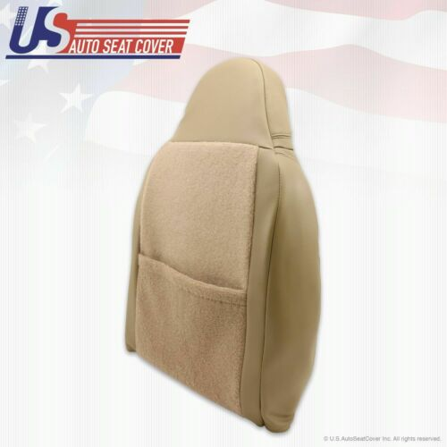 2000 Ford F250 Lariat Front Driver Side Lean Back Replacement Leather Cover Tan