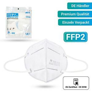 FFP2-Masken INDIVIDUELL VERPACKT 5-lagig 20x Gesichtsmasken CE-zertifiziert