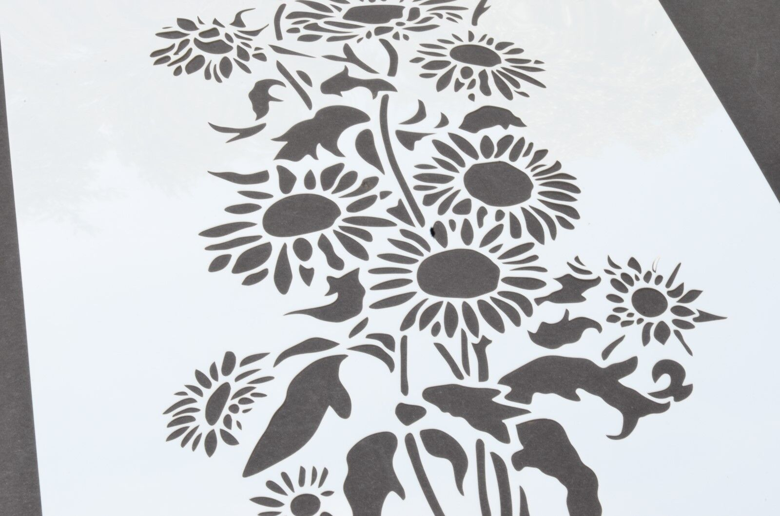Hawaiian Sunflower 15 Flower Painting Stencils Assortment of Rose Daisy lily
