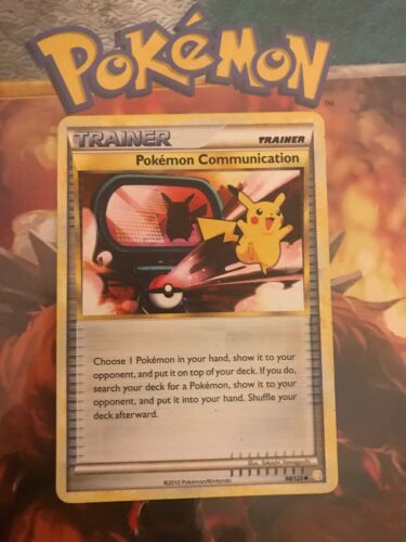 Pokémon Communication 98//123 Uncommon LP//MP Fast Shipping Pokémon HGSS Card.