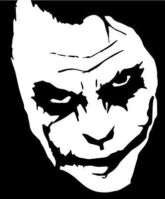 The Joker Vinyl Decal Sticker Dark Knight Heath Ledger Ebay