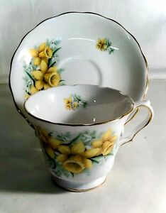 Royal-Kent-Flower-Series-Daffodil-Cup-And-Saucer