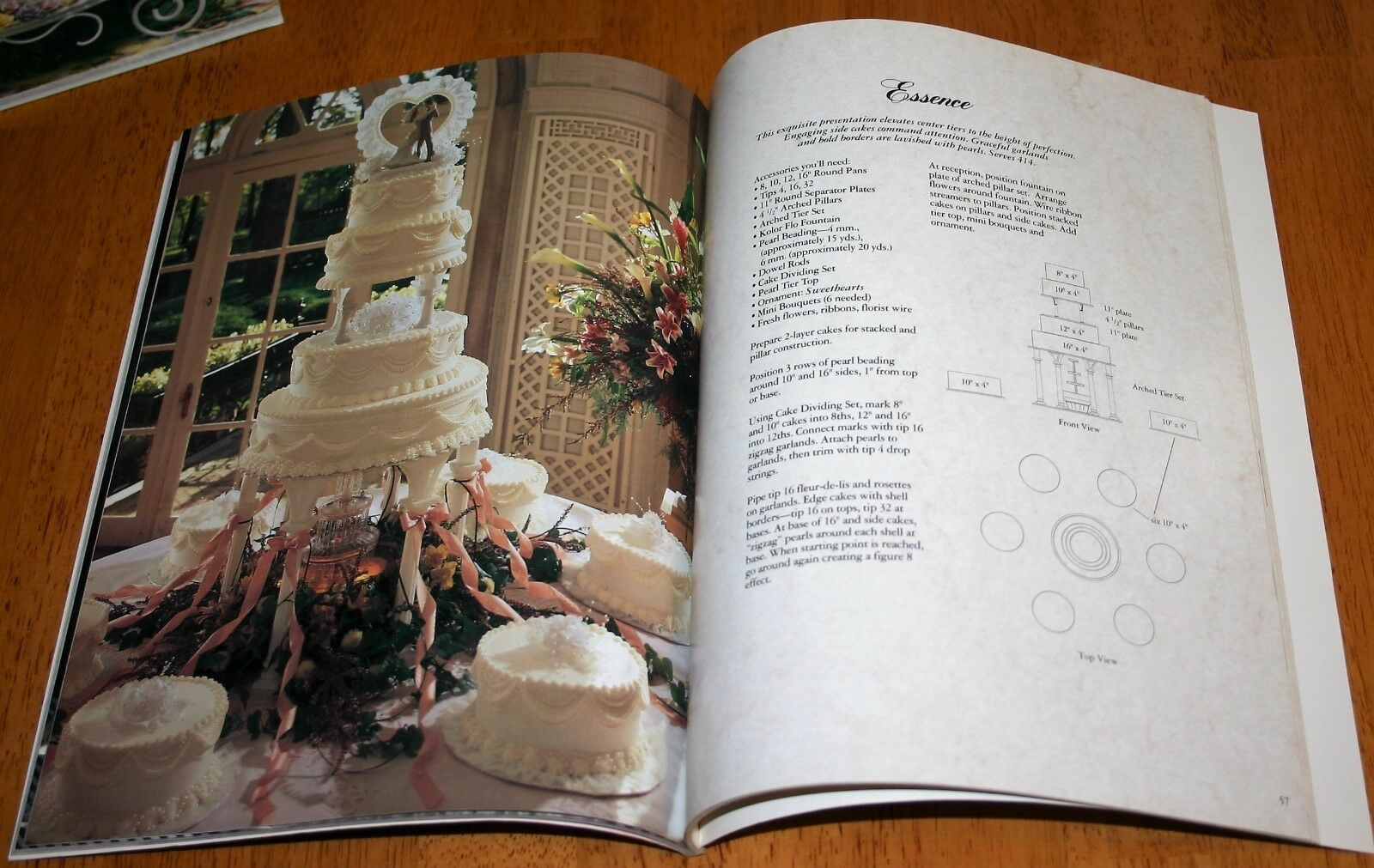 The Best A Treasury Of Wilton Wedding Cakes-how To Book 1991 Home & Garden Baking Accs. & Cake Decorating