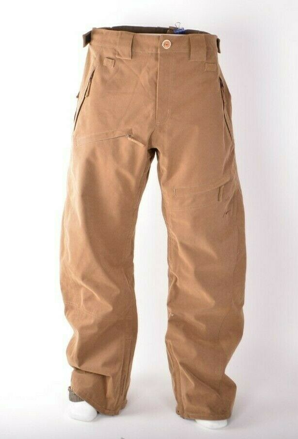 2009 MENS NIKE SB 1ST YEAR RECCO SNOWBOARDING PANTS   225 XL Brown used