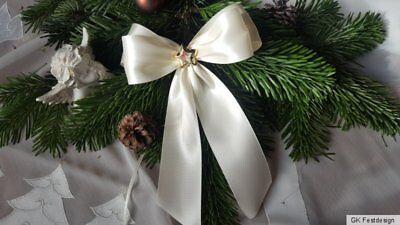 10 Molatura Di Natale, Albero Di Natale Crema Loop, Decorazione Natale-eifen,christbaumschleifen Creme ,deko Weihnachten It-it