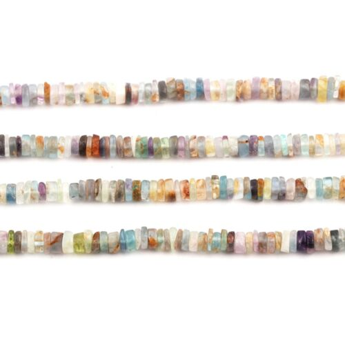 """AAA Quality Natural Multi Gemstone Tyre Heishi 4-6mm Smooth Loose Beads 15.8/"""""""