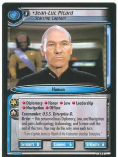 Star Trek TNG Quotable Decipher CCG Promo Chase Card OP4 Jean Luc Picard