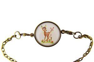 Cute-Bambi-Deer-Bracelet-Chain-Bracelet-Silver-plated-Dainty-women-Jewelry