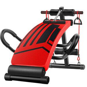 Sit Up Bench Decline Abdominal Fitness Home Gym Exercise Workout Equipment Red