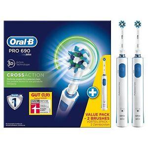 Oral-B PRO 690 CrossAction, 2 Handstücke - Elektrische Zahnbürste 4210201126546
