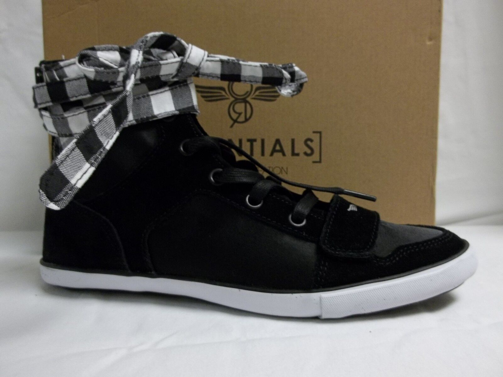 Creative Recreation Size 7 M Cesario Black Checkers Sneakers New Womens Shoes