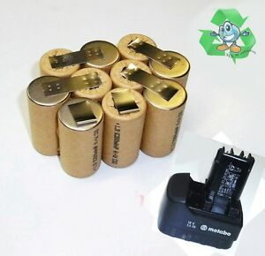 Scambio-Pack-per-ORIGINALE-Metabo-batteria-12-V-impulso-con-2-5-Ah-SANYO-celle