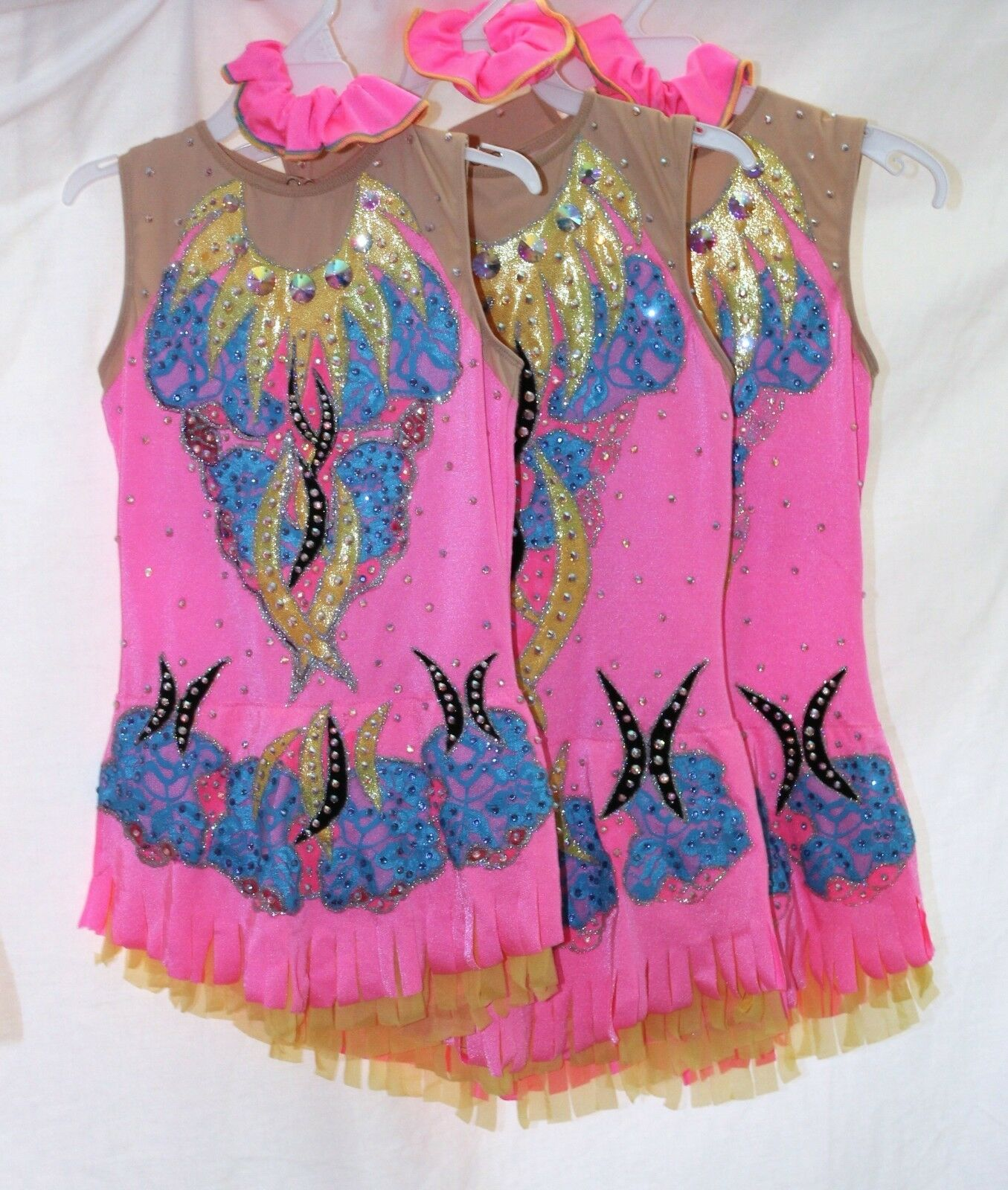 Rhythmic Gymnastics Leotard RG Acro Ice skating dress Tap Costume Twirling Dance