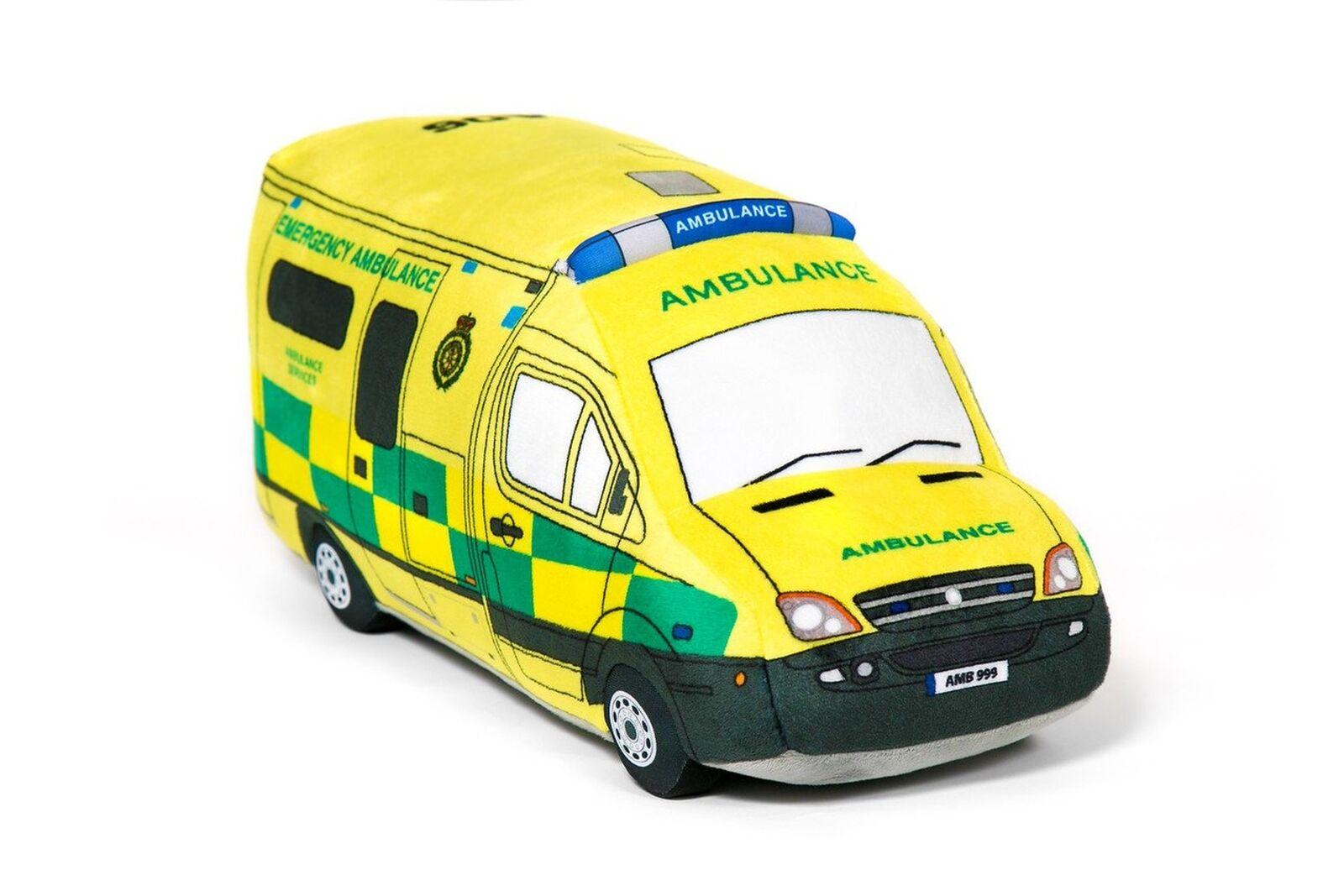 British Ambulance 3D Plush Soft Toy