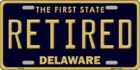 Retired Delaware Novelty Metal License Plate