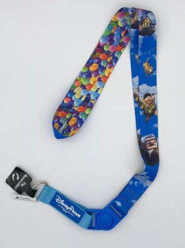 Disney Parks Pixar Up House Balloons Carl Russell Dug Reversible Pin Lanyard